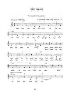 Sheet nhạc bụi phấn