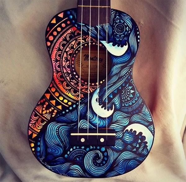 trang tri dan guitar