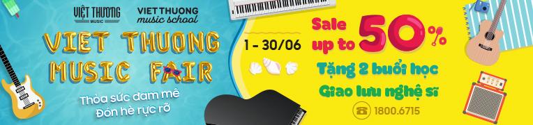 Việt Thương Music khuyến mãi nhạc cụ đến 50%