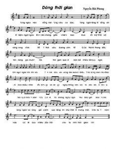 dòng thời gian hợp âm và Sheet nhạc - Hợp Âm Chuẩn
