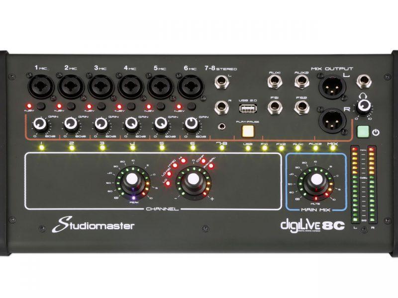 Carlsbro Mixer Bàn trộn tín hiệu 8 kênh DIGILIVE08C